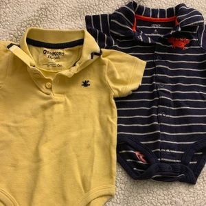 Oshkosh and Carters collard onesies